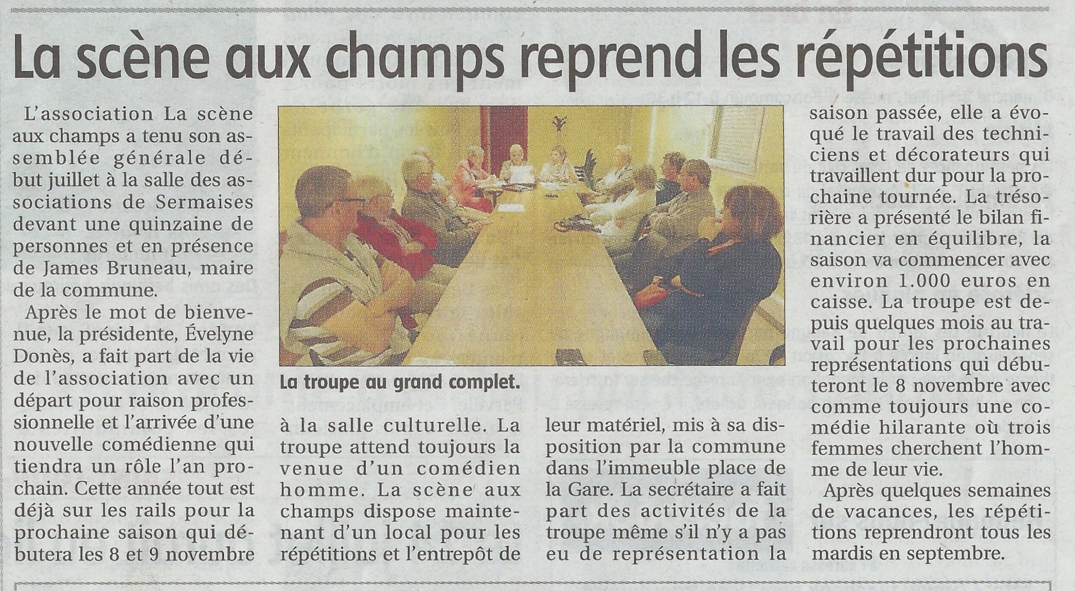 Article Courrier du loiret 17:07:2014