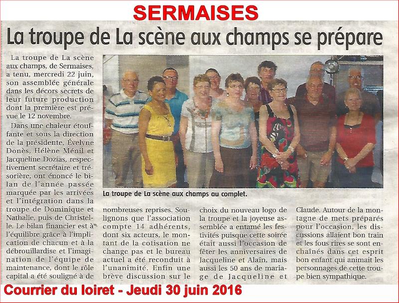 Courrier du Loiret du 30 juin 2016